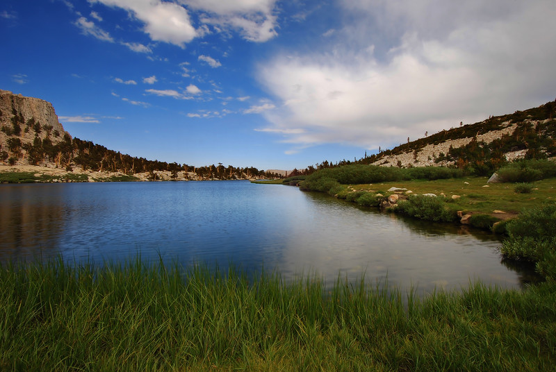 Long Lake and clearing storm (Cottonwood Lakes Basin).  Sierra Nevada Range, California.