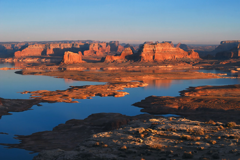 Sunset Lake Powell from Alstrom Point.  Glen Canyon National Recreation Area, Utah.