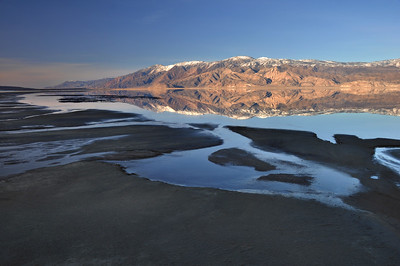 Owens Lake Reflecting the Inyo Mountains.  Olancha, California.  Copyright © 2010 All rights reserved.