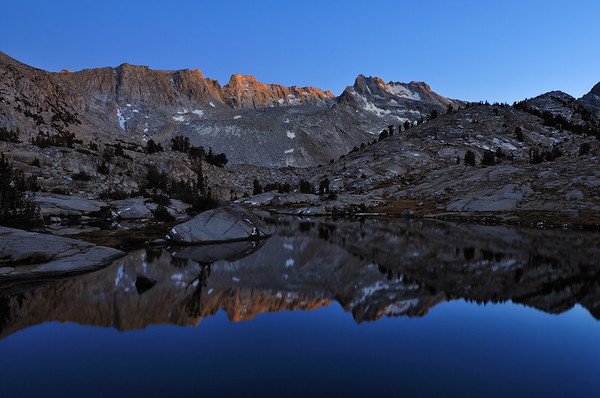 Last Light on the Thompson Ridge.  Sierra Nevada Range, California.