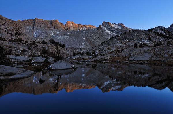 Last Light on the Thompson Ridge.  Sierra Nevada Range, California.