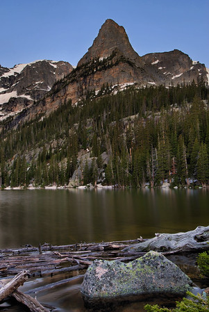 Little Matterhorn and Odessa Lake.  Rocky Mountain National Park, Colorado.