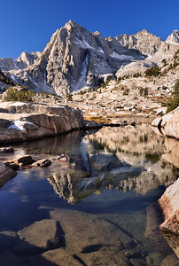 Picture Peak and Sailor Lake.  Sierra Nevada Range, California.
