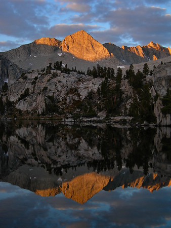 Mount Gardiner Reflection from the Sixty Lakes Basin.  Kings Canyon National Park.   Sierra Nevada Range, California.  Copyright © 2006 All rights reserved.
