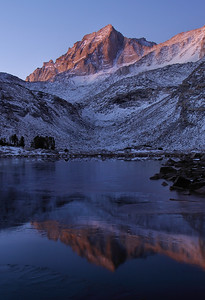 Bear Creek Spire (Morning).  Sierra Nevada Range, California.  Copyright © 2009 All rights reserved.