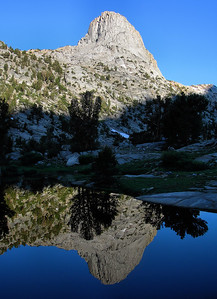 Fin Dome Reflection.  Sierra Nevada Range, California.  Copyright © 2005 All rights reserved.