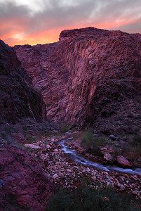 Bright Angel Creek (Sunset) Grand Canyon National Park, Arizona. Copyright © 2008 All rights reserved.
