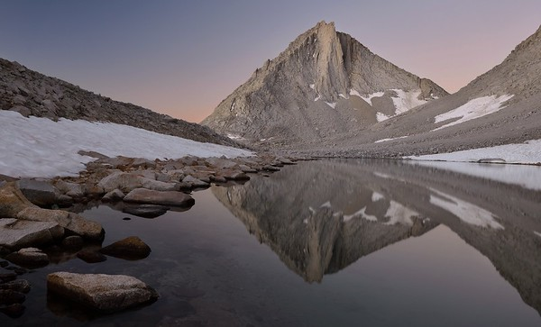 Merriam Peak Reflected in Royce Lake Inyo National Forest, California.  Copyright © 2012 All rights reserved.