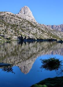 Fin Dome Reflection (Rae Lakes Basin).  Kings Canyon National Park.  Sierra Nevada Range, California.