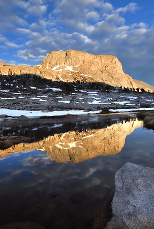 Reflections in the Nine Lake Basin.  Sierra Nevada Range, California.  Copyright © 2010 All rights reserved.