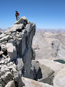 Summit of Mount Tyndall (14,025'), California.  Copyright © 2004 All rights reserved.