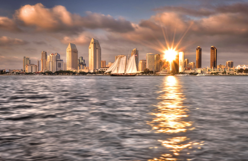"-PHOTOGRAPH OF THE MONTH (October 2011)<br /> Category ""Events"" @ MyParkPhotos.com<br /> <br /> San Diego Skyline (Sunset)<br /> Coronado, California.<br /> Copyright © 2011<br /> All rights reserved."