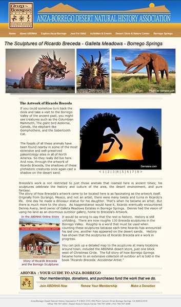 Anza-Borrego Natural History Association Publication and web page.