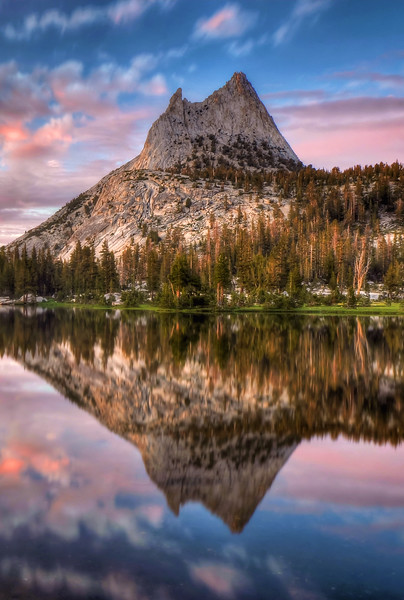 -PHOTOGRAPH OF THE DAY (May 17, 2012)<br /> MyParkPhotos.com<br /> <br /> Cathedral Peak Reflection<br /> Yosemite National Park, California.<br /> Copyright © 2011<br /> All rights reserved.