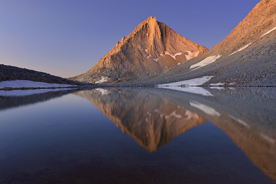 """-1ST PLACE WINNER  Competition """"Reflections""""   @ Pictures2WIn.com (September 2012)   Miriam Peak Reflected in Royce Lake Inyo National Forest, California.   Copyright © 2012 All rights reserved."""