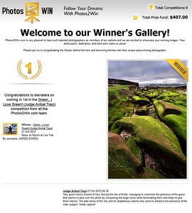 """1ST PLACE WINNER (October 2012) Competition """"Green, I Love Green"""" Photos2Win.com"""