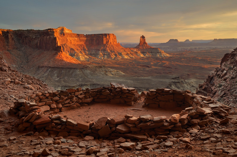 -PHOTOGRAPH OF THE DAY (April 24, 2012)<br /> MyParkPhotos.com<br /> <br /> False Kiva at Sunset<br /> Canyonlands National Park, Utah.<br /> Copyright © 2012<br /> All rights reserved