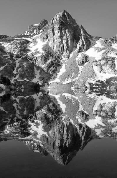 "-PHOTOGRAPH OF THE MONTH (April 2011)<br /> Category ""Black and White"" @ MyParkPhotos.com<br /> <br /> -PHOTOGRAPH OF THE DAY (April 28, 2011)<br /> MyParkPhotos.com<br /> <br /> Painted Lady Reflection<br /> Sierra Nevada Range, California.<br /> Copyright © 2005<br /> All rights reserved."