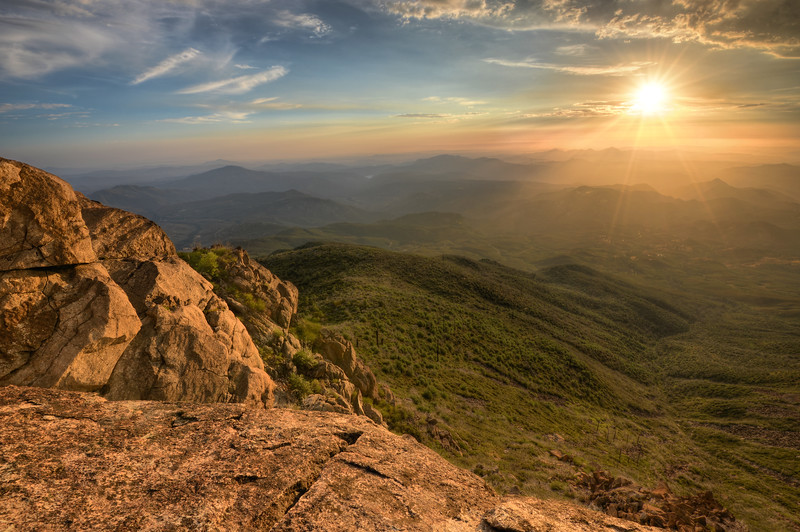 Sunset from Cuyamaca Mountain