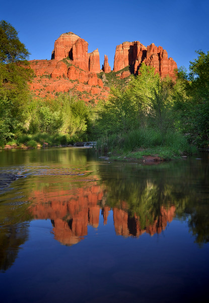 -PHOTOGRAPH OF THE DAY (June 11, 2011)<br /> MyParkPhotos.com<br /> <br /> The Cathedral and Oak Creek<br /> Sedona, Arizona.<br /> Copyright © 2011<br /> All rights reserved.