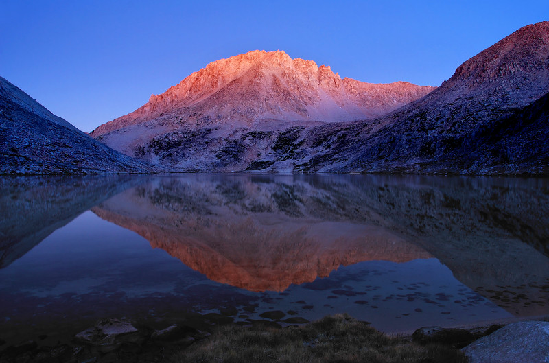 "-FINALIST<br /> Outdoor Photographer Magazine 2010 Art of Photography <br /> ""Conservation"" Category<br /> <br /> Mount Hilgard Reflected in Lake Italy<br /> Sierra Nevada Range, California.<br /> Copyright © 2008<br /> All rights reserved."