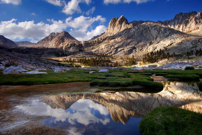 """-PHOTOGRAPH OF THE MONTH (June 2012)  Category """"Landscapes"""" @ MyParkPhotos.com <br /> <br /> Rock Creek and the Miter<br /> Sequoia National Park, California.<br /> Copyright © 2011<br /> All rights reserved."""