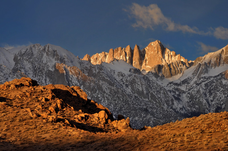 "-BRONZE AWARD WINNER<br /> Better Photography Magazine Photograph of the Year 2011 ""Classic Landscapes"" Competition <br /> <br /> Mount Whitney and the Alabama Hills<br /> Eastern Sierra Nevada, California.<br /> Copyright © 2010<br /> All rights reserved."