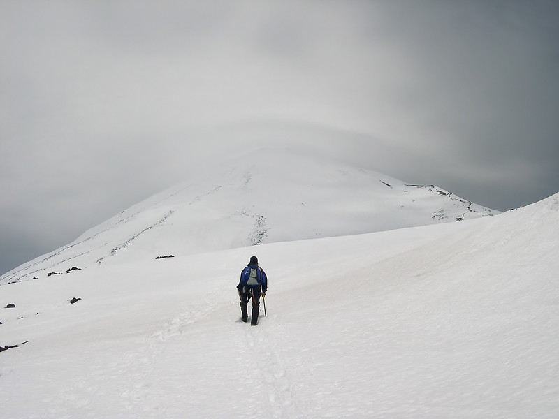 "-PHOTOGRAPH OF THE MONTH (October 2011)<br /> Category ""Recreation"" @ MyParkPhotos.com<br /> <br /> Hiking into a Storm<br /> Mount Adams, Washington.<br /> Copyright © 2004<br /> All rights reserved."