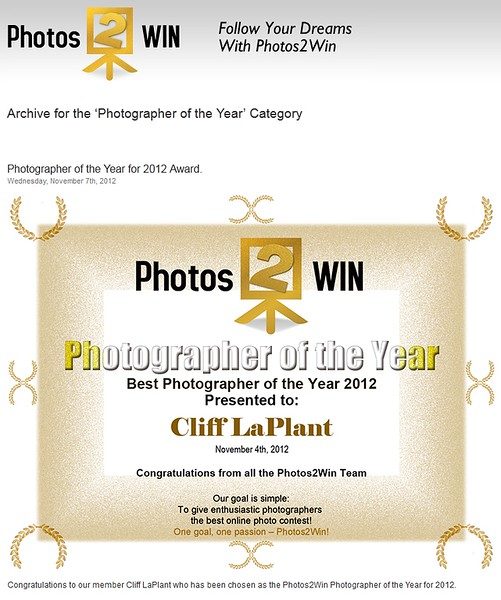 2012 PHOTOGRAPHER OF THE YEAR