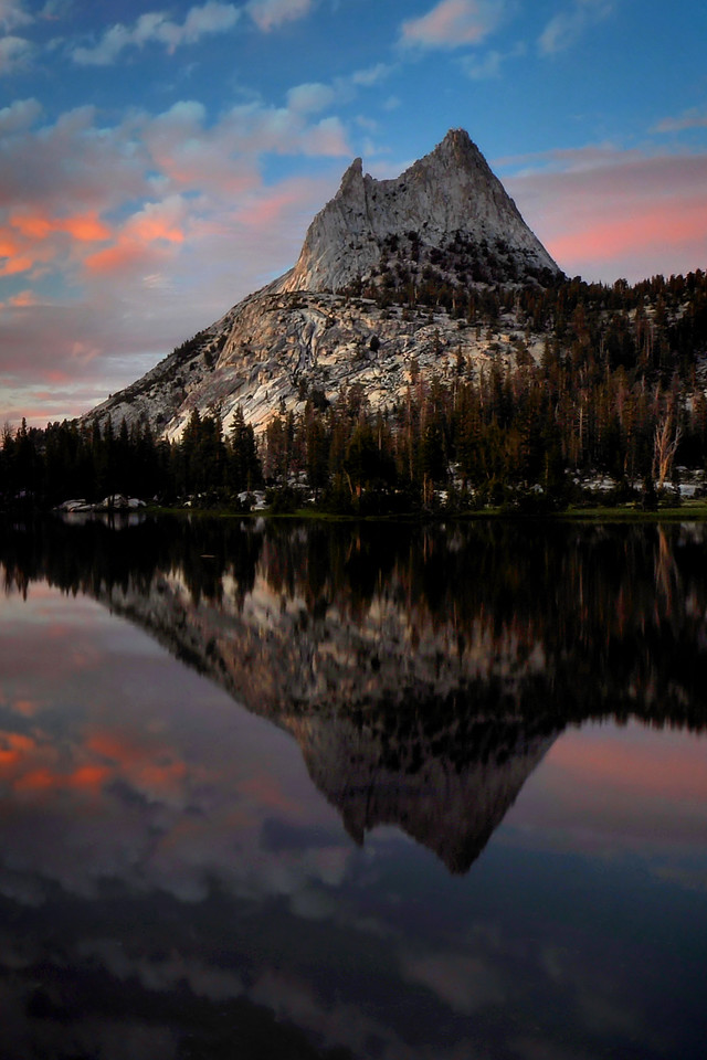 Cathedral Lake Reflection<br /> Yosemite National Park, California.<br /> <br /> Copyright © 2011<br /> All rights reserved.