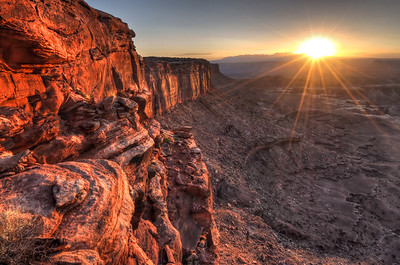 Sunrise at Grandview Point Canyonlands National Park, Utah.  Copyright © 2012 All rights reserved