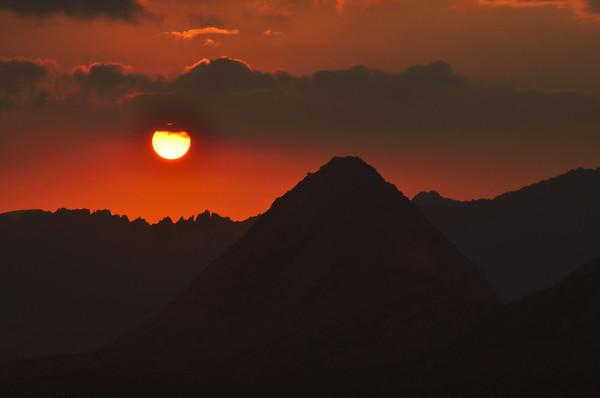 Sunset over Pilot Knob