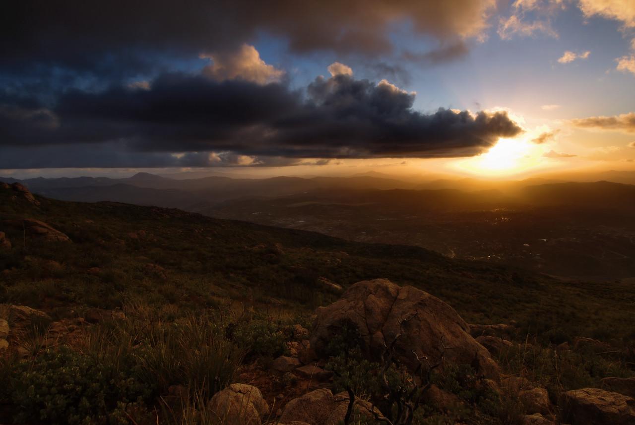 Sunset atop Viejas Mountain