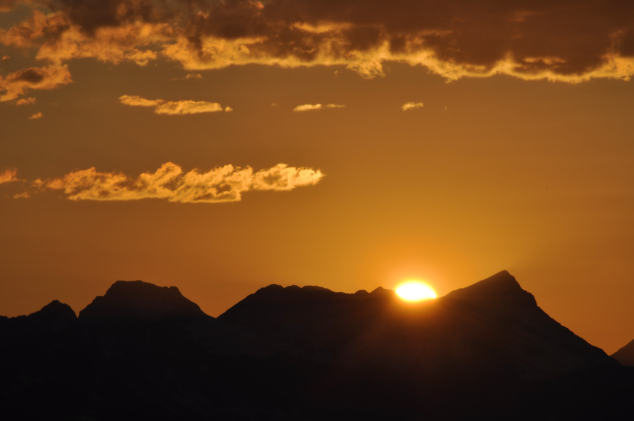 Sunset from Logan Pass