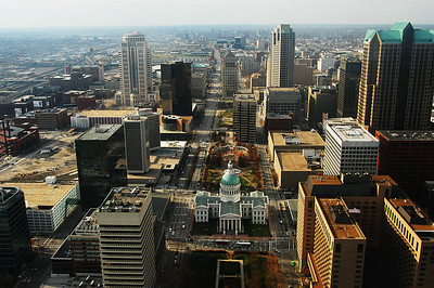 St Louis, as seen from the top of the Arch.