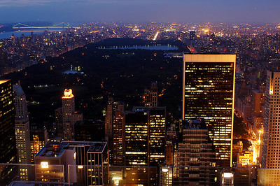 Central Park at night, Manhattan, New York City