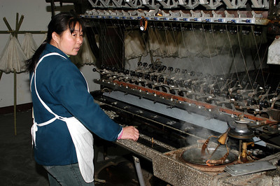 Chinese Silk factory.