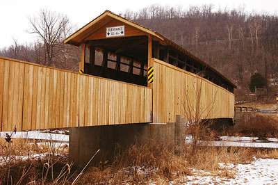Claycomb Covered Bridge in Bedford County Pennsylvania was moved from Reynoldsdale to this location in 1975.