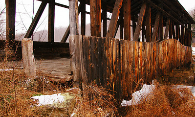 built in 1882 Cuppett Covered Bridge in Bedford County Pennsylvania.
