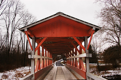The Colvin Covered Bridge was built in 1866. It was refurbished in 1997.