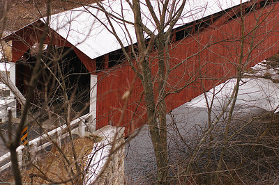 Built in 1906  the Herline Covered Bridge is the longest covered bridge in Bedford County Pennsylvania.