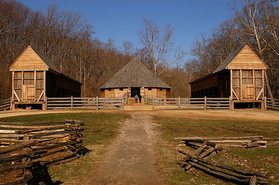 Wheat trashing barn, built and designed by George Washington on his estate, Mount Vernon.