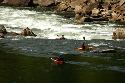 Kayaking the New River, New River Gorge, West Virginia