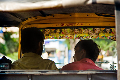 A taxi driver's windshield is a shrine to Bollywood goddess Aishwarya Rai Jaipur, Rajasthan, India  |  2007