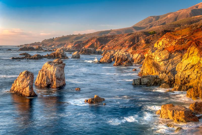 Garrapta State Beach at Sunset in Central California