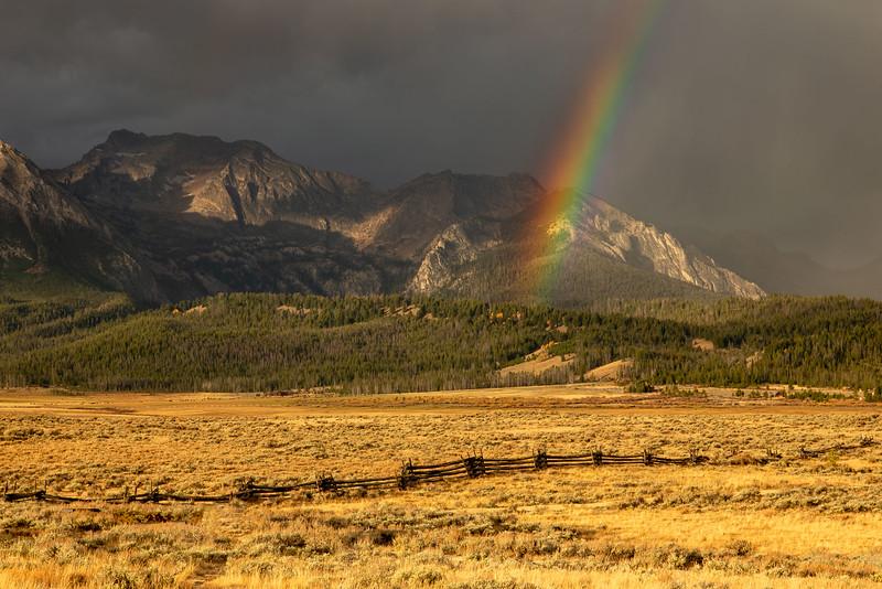 Sunrise Rainbow at Stanley ID