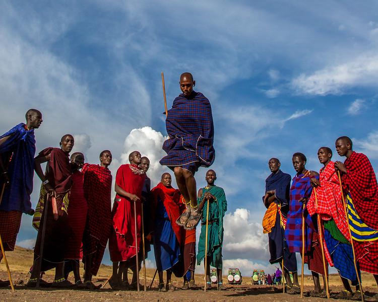 Maasai warriors -  Ngorongoro Tanzaia