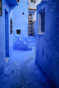 Blue Village Street