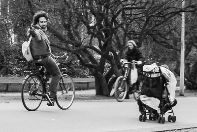 Thumbs up to bicycling in Amsterdam!