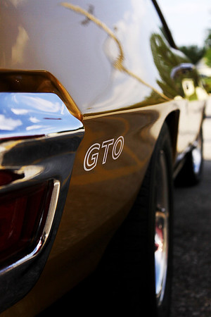 I'm not sure if the GTO badging on the rear quarter panel and trunk lid are factory or aftermarket, but regardless they have been displayed in a clean and tasteful manner.